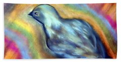 Colorful Bird On Deck Beach Towel