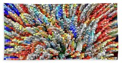 Colorful Block Array Beach Towel