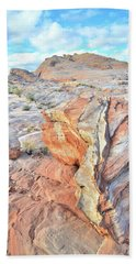 Colorful Boulder At Valley Of Fire Beach Sheet