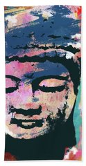 Colorful Buddha 1- Art By Linda Woods Beach Towel