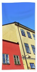 Colorful Buildings Of Stockholm Beach Towel