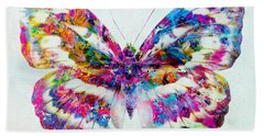 Colorful Butterfly Art Beach Sheet by Olga Hamilton