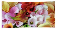 Colorful Calla Lilies Beach Towel