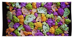 Colorful Cauliflower Mosaic Beach Towel