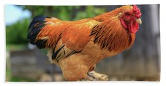Colorful Chicken Beach Towel