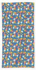Beach Towel featuring the digital art Colorful Circus Food Treats by MM Anderson