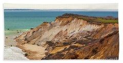 Colorful Clay Cliffs On The Vineyard Beach Sheet