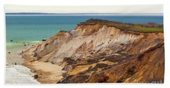 Colorful Clay Cliffs On The Vineyard Beach Sheet