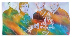 Colorful Coldplay Beach Towel by Dan Sproul