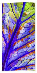 Colorful Coleus Abstract 6 Beach Sheet