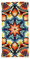 Colorful Concentric Motif Beach Sheet by Phil Perkins