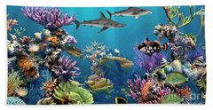 Colorful Coral Reef Beach Sheet