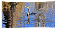 Beach Towel featuring the photograph Colorful Cormorant by Al Powell Photography USA
