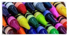 Colorful Crayons Beach Towel