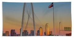 Colorful Dallas Sunset Beach Towel by John Roberts