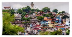 Colorful Houses On The Hill Beach Towel