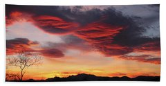 Colorful Dawn Over New Mexico's Peloncillo Mountains Beach Towel