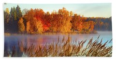 Colorful Dawn On Haley Pond Beach Sheet