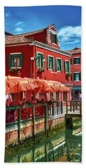 Colorful Day In Burano Beach Towel