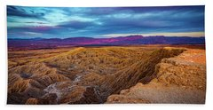Colorful Desert Sunrise Beach Sheet