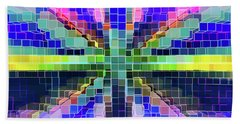 Colorful Digital Complex Beach Sheet
