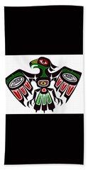 Colorful Eagle Symbol Beach Towel