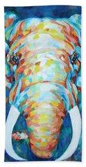Colorful Elephant Beach Towel