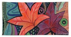 Colorful Fall Beach Towel