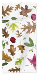Colorful Fall Leaves Beach Towel