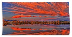 Beach Towel featuring the photograph Colorful Fall Morning by Scott Mahon