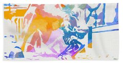 Colorful Fearless Girl Beach Towel