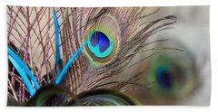 Beach Towel featuring the photograph Colorful Feathers by Angela Murdock
