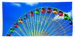 Colorful Ferris Wheel Beach Towel