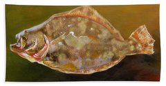 Colorful Flounder Beach Sheet by Phyllis Beiser