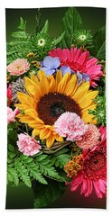Colorful Flower Arrangement Beach Sheet