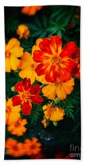 Beach Sheet featuring the photograph Colorful Flowers by Silvia Ganora