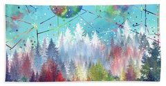 Colorful Forest 4 Beach Towel by Bekim Art