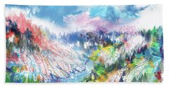 Colorful Forest 5 Beach Towel by Bekim Art