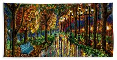 Beach Towel featuring the digital art Colorful Forest by Darren Cannell