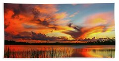 Colorful Fort Pierce Sunset Beach Sheet