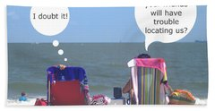 Beach Humor Colorful Friends Beach Sheet by Suzanne Powers