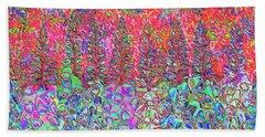 Colorful Garden Beach Sheet