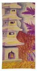 Colorful Garden Beach Towel by Jean Haynes