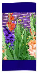 Colorful Gladiolas Beach Towel