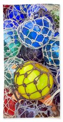 Colorful Glass Balls Beach Towel
