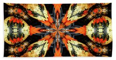 Colorful Gourds Abstract Beach Towel