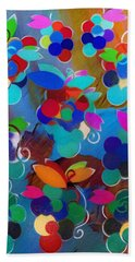 Colorful Grapes Abstract Beach Towel