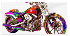 Colorful Harley-davidson Breakout Beach Sheet
