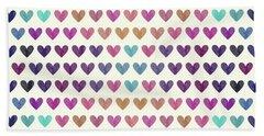 Colorful Hearts IIi Beach Towel