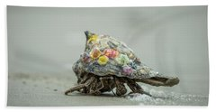 Colorful Hermit Crab Beach Sheet